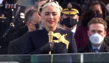 A cantora executou o 'The Star-Spangled Banner' no Capitólio nesta quarta-feira, 20
