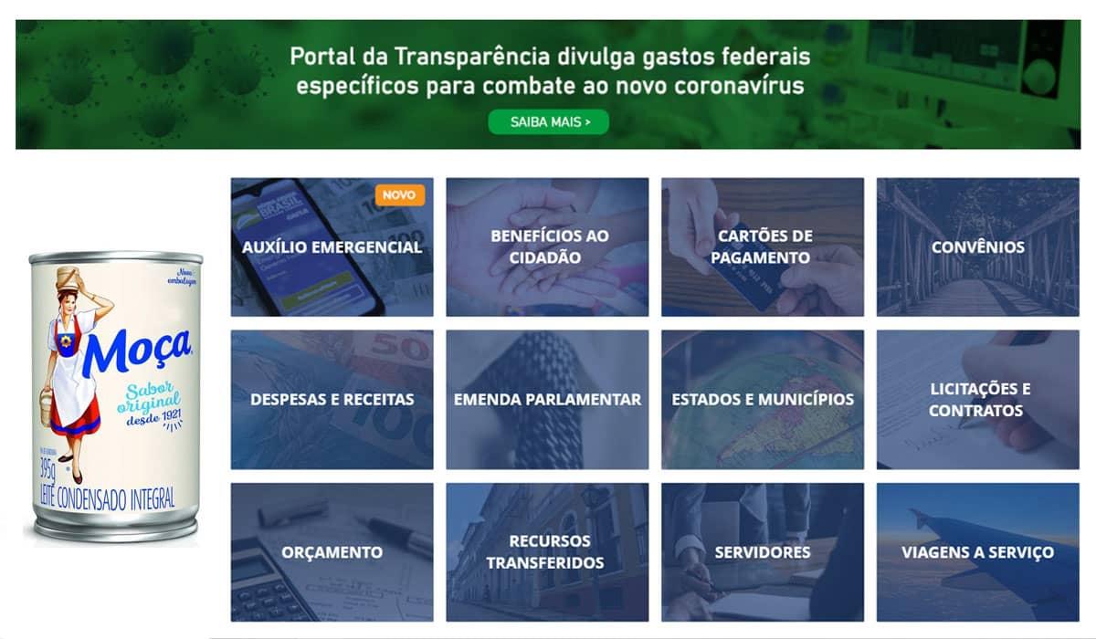 O site que detalha os gastos do Governo Federal saiu do ar após a repercussão dos R$ 15 milhões gastos com leite condensado