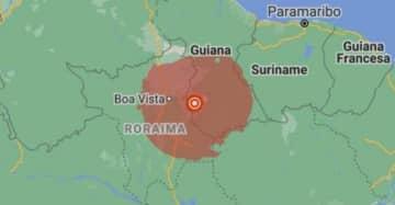 O tremor teve magnitude 5,7, com epicentro na Guiana.