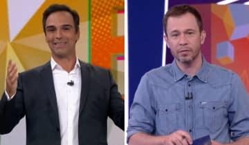 Tiago Leifert apontou Schmidt como a 'escolha ideal para o BBB' e desejou sorte ao novo apresentador do reality