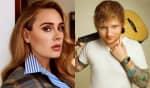Adele não demonstrou incômodo com a proximidade entre as datas de lançamento de seu álbum e o novo álbum de Sheeran