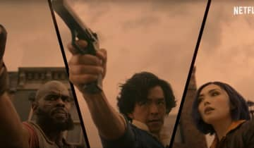 Spike Spiegel (John Cho), Jet Black (Mustafa Shakir) e Faye Valentine (Daniella Pineda) aparecem em ação no novo teaser da série