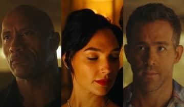 O trailer de pouco mais de 3 minutos oferece um vislumbre da ação extrema que acompanhará Ryan Reynolds, Dwayne Johnson e Gal Gadot na trama