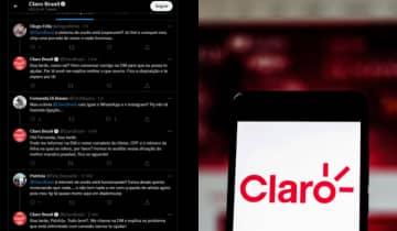 Além da instabilidade em aplicativos, a internet da Claro também apresenta problemas nesta segunda-feira (4)