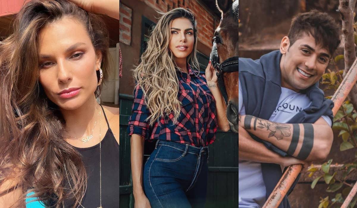 Dayane Mello, Erika Schneider e Tiago Piquilo disputam a Roça desta semana em A Fazenda 13