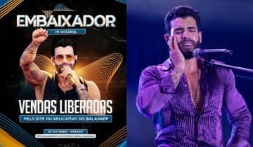 Gusttavo Lima fará um show com público limitado no estacionamento do Estádio Serra Dourada, ainda em outubro