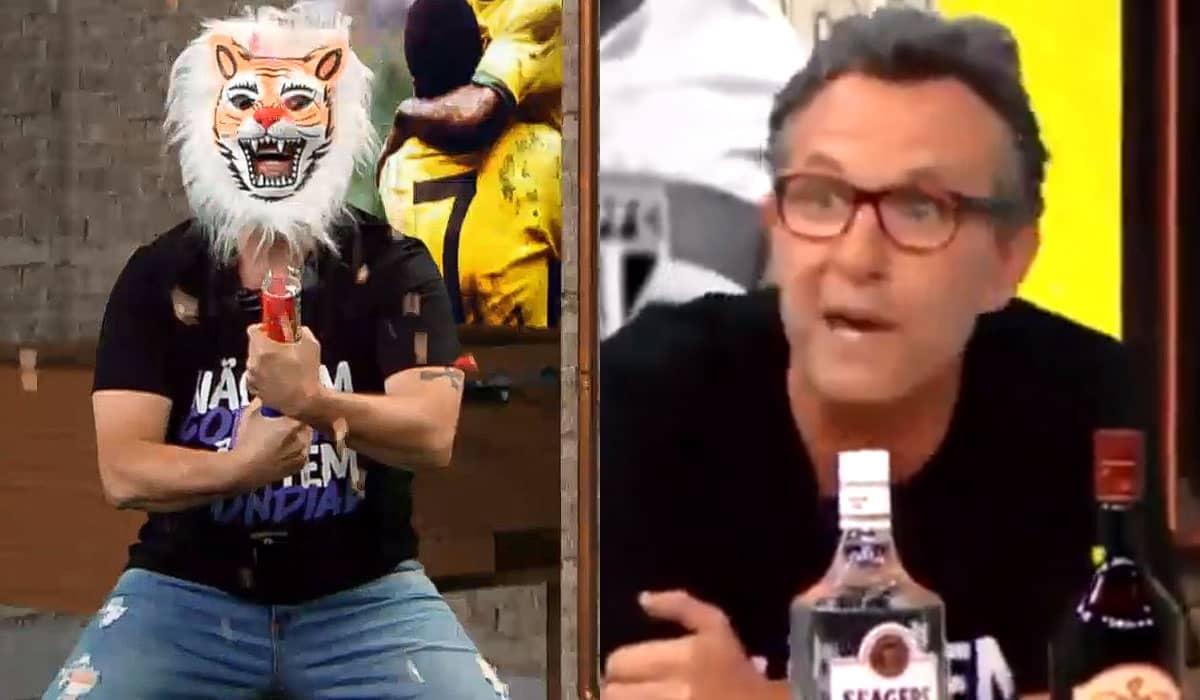 O apresentador demonstrou satisfação com a derrota do Palmeiras e ainda aproveitou para criticar a postura de Lumena no reality da Globo
