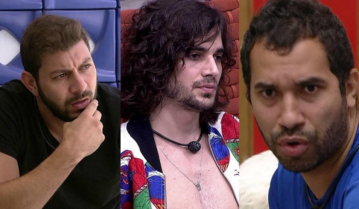 Caio, Fiuk e Gilberto formam um Paredão importantíssimo para a reta final do reality