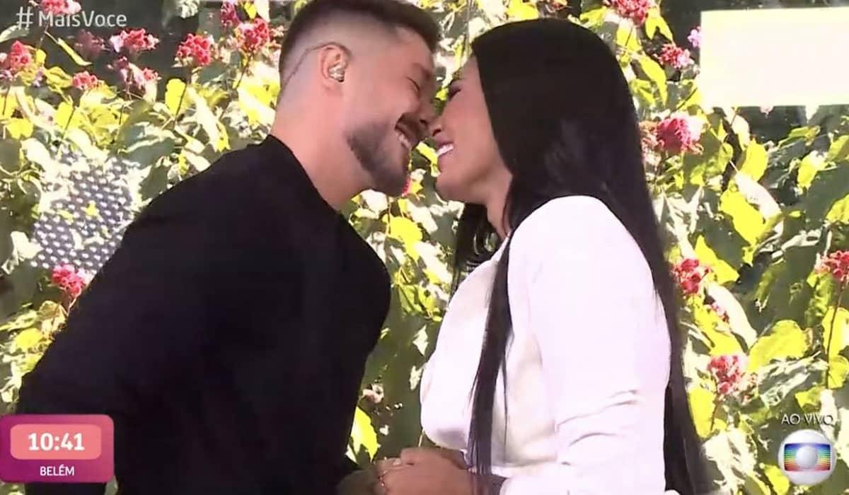 Pocah avaliou a trajetória no BBB 21 e foi pedida em casamento pelo namorado Ronan ao vivo no Mais Você