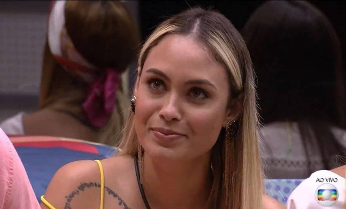 Sarah foi a eliminada do BBB 21 da última semana. Foto: TV Globo.