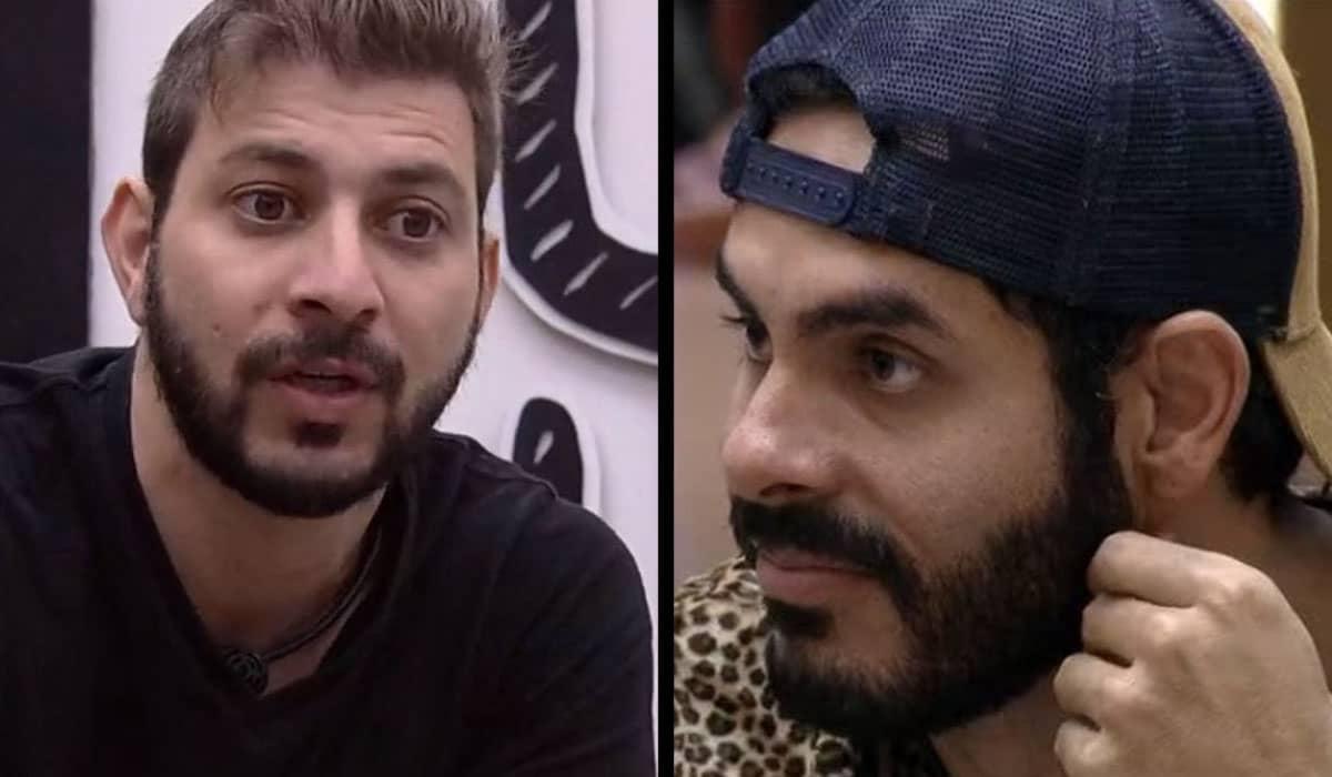 Parceiros dentro da casa, Caio e Rodolffo fazem disputa acirrada no Paredão do BBB 21