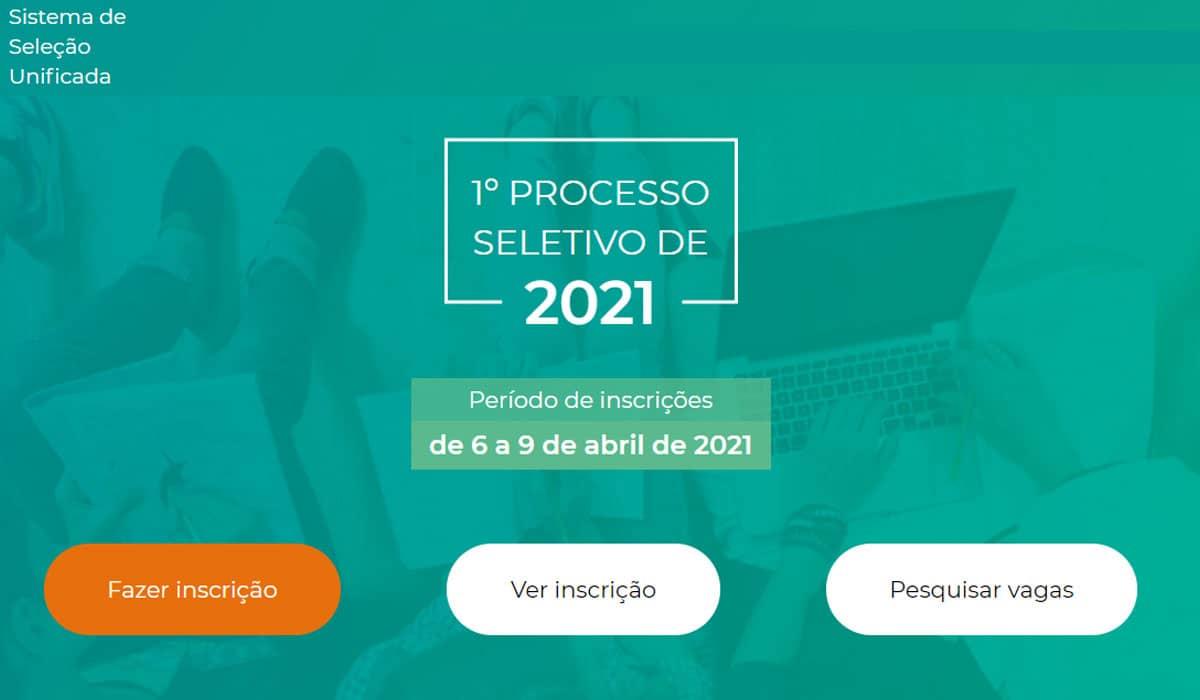As inscrições para o Sisu 2021 vão até o dia 9 de abril, e o resultado está programado para o dia 13