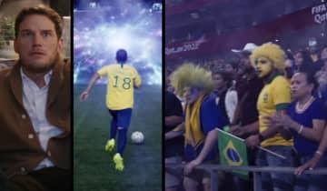 O trailer oficial do novo filme estrelado por Chris Pratt mostra o anúncio de uma guerra futurista durante uma partida da Copa do Mundo FIFA de 2022 no Catar