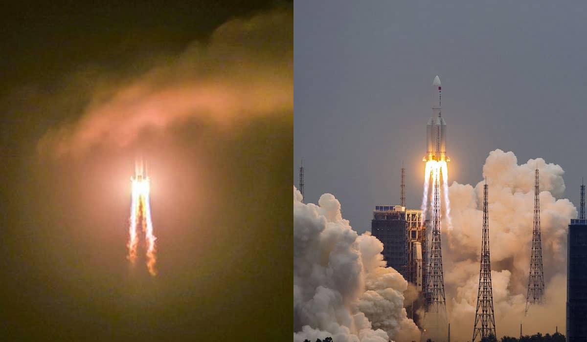 O primeiro estágio do foguete Long March-5B Y2 pode atingir áreas povoadas na Terra