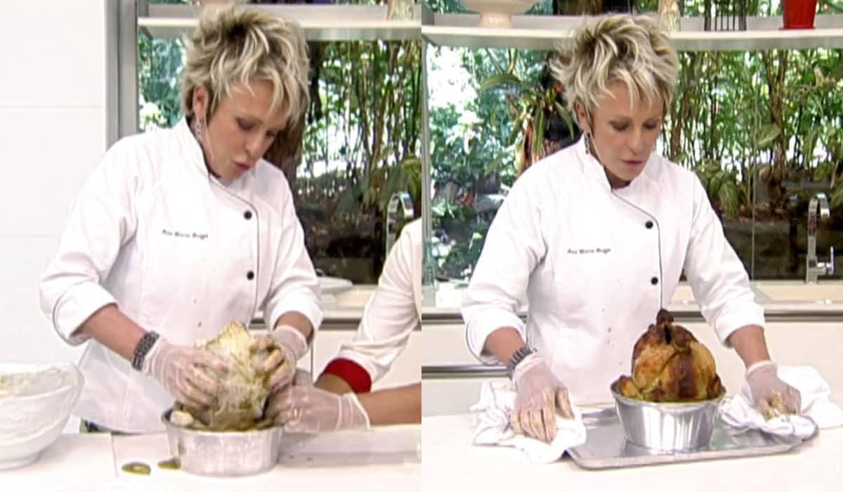 Ana Maria Braga ensinou a preparar frango assado semelhante ao que é vendido em estabelecimentos diversos pelo Brasil