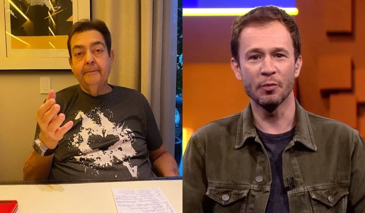Fausto Silva foi substituído às pressas por Tiago Leifert para a gravação do Domingão do Faustão do próximo domingo (13)