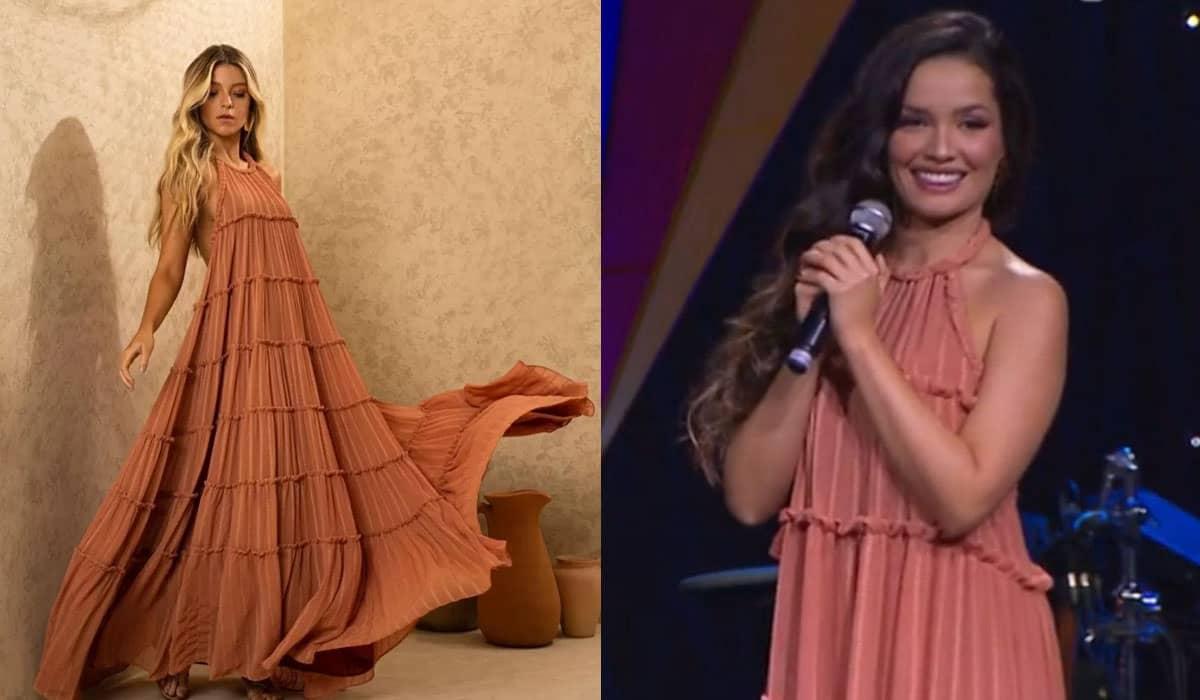 O vestido longo utilizado por Juliette na live de Gilberto Gil fez um grande sucesso entre os espectadores no último domingo (13)