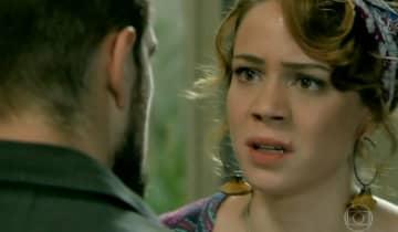 Cristina ficará furiosa após flagrar Vicente conversando com Maria Clara em casamento que dá errado