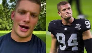 O atleta confessou que sofreu com o silêncio nos últimos 15 anos e agradeceu à NFL e companheiros de equipe pelo apoio
