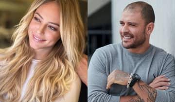 A atriz e o cantor foram fotografados juntos na fila de um estabelecimento comercial pela coluna de Leo Dias