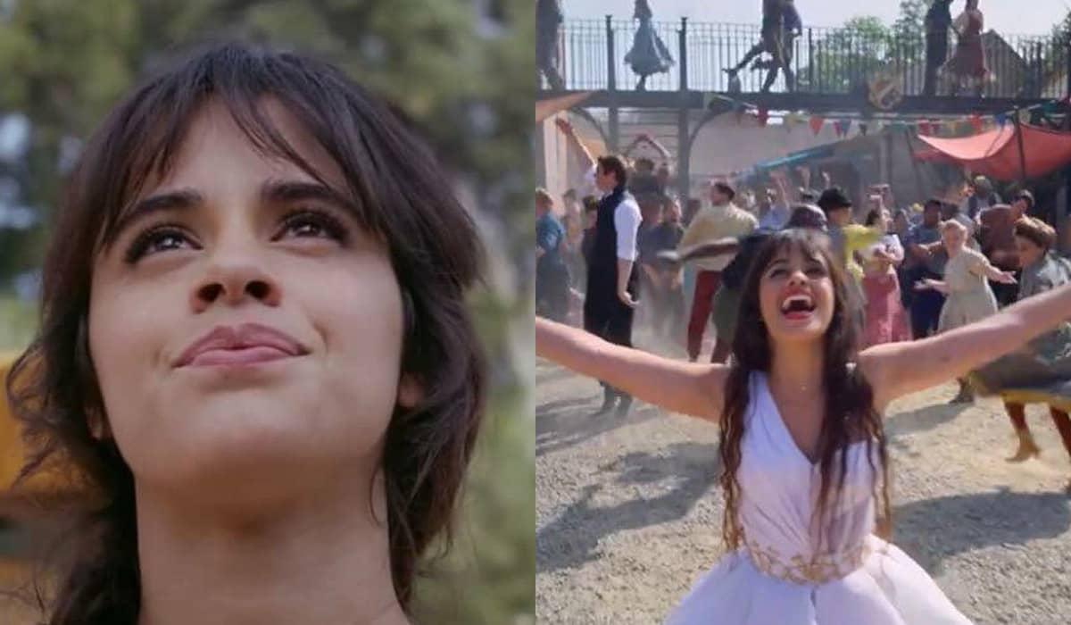 O teaser oferece um pequeno vislumbre da cantora Camila Cabello dando vida à icônica personagem dos contos de fadas