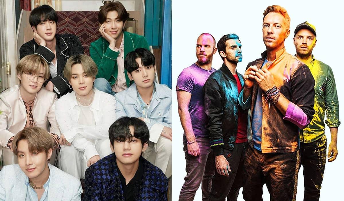 Apesar de não existir confirmação até o momento, os ARMYS estão apostando suas fichas na parceria dos grupos no álbum 'Music Of The Spheres'