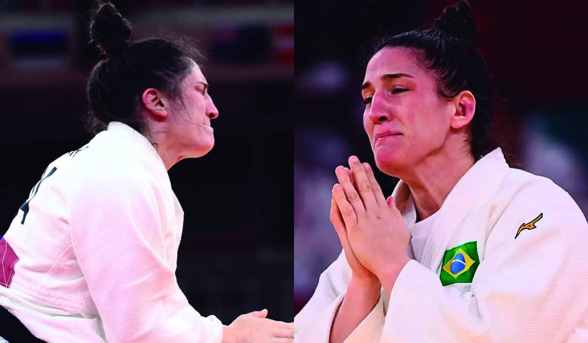 A brasileira garantiu a medalha de bronze após imobilizar a sul-coreana Hyunji Yoon com um kuzure-kami-shiho-gatame