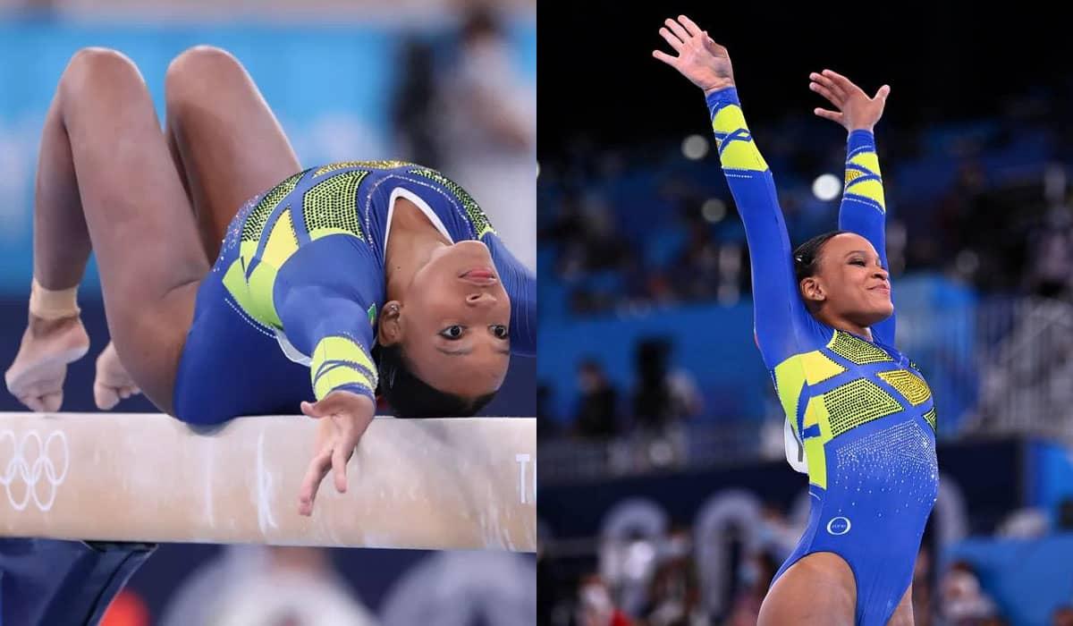 A brasileira fez uma trajetória brilhante na competição e garantiu o segundo lugar no pódio em Tóquio