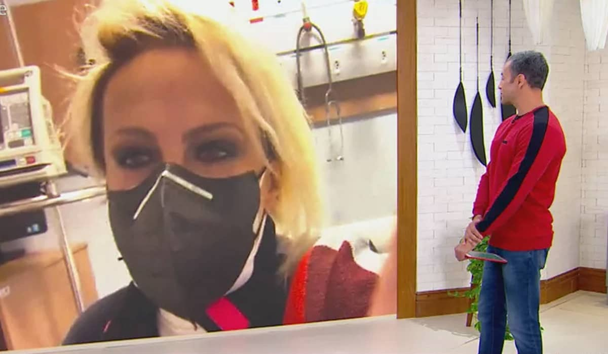 A apresentadora descobriu que estava com Covid-19 após fazer o teste nos estúdios da Globo pela manhã