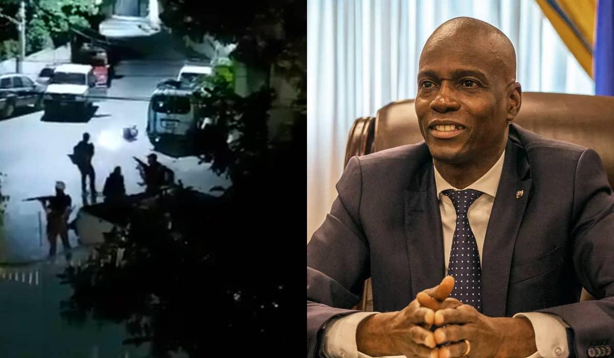 As imagens divulgadas após a confirmação da morte mostram os criminosos entrando livremente na residência de Jovenel Moïse