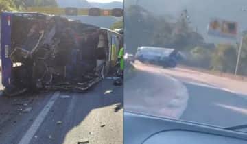 Duas pessoas morreram e duas ficaram gravemente feridas no acidente que aconteceu na BR-376, no litoral do Paraná