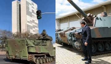 O desfile militar acontece no mesmo dia em que está previsto, na Câmara dos Deputados, a análise da PEC do voto impresso