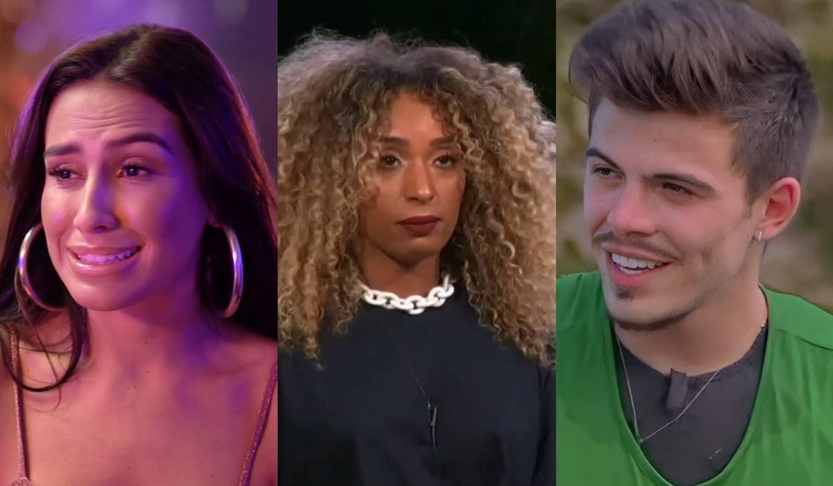 Any Borges, Nanah Damasceno e Thomaz Costa se enfrentarão para decidir quem fica e quem será o próximo exilado da disputa