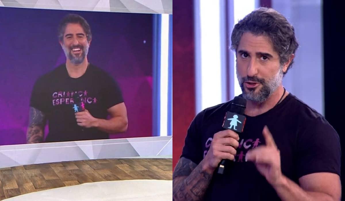 O apresentador comemorou bastante sua estreia durante o mesão do Criança Esperança no último domingo, 22