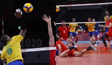 A seleção brasileira começou bem mas dormiu em quadra enquanto os russos buscavam a classificação com força total