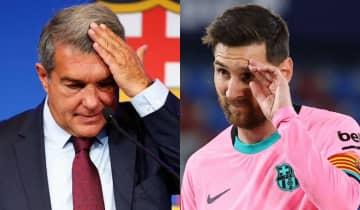 O presidente do Barcelona, Joan Laporta, esclareceu que Messi queria ficar, mas os limites financeiros do clube não permitiam a renovação de contrato