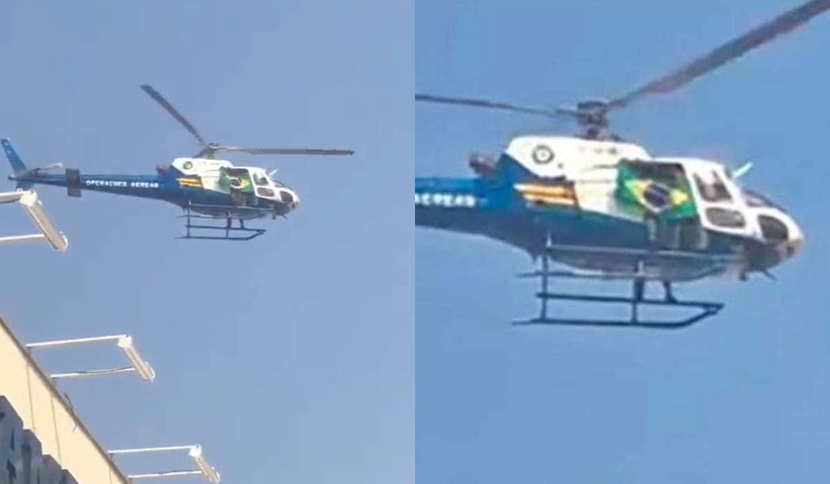 O sobrevoo do helicóptero do Ciopaer teria sido solicitado pela própria direção do Colégio Notre Dame de Lourdes, segundo comunicado da Sesp-MT