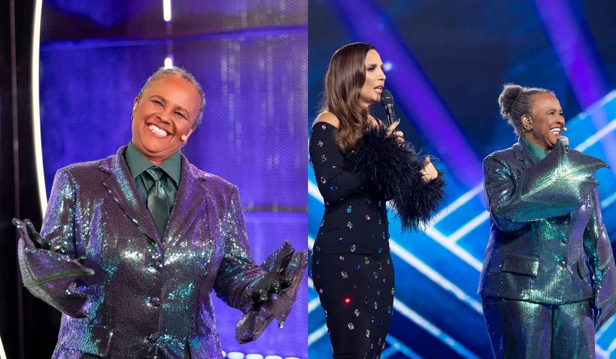 A cantora finalmente foi desmascarada após já ter sido descoberta pelos jurados, e aproveitou para explicar por que chorou ao cantar 'Quero Botar Meu Bloco Na Rua'