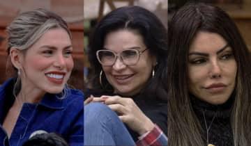Erika Schneider, Solange Gomes e Liziane Gutierrez disputaram a Prova do Fazendeiro na última quarta-feira (22)