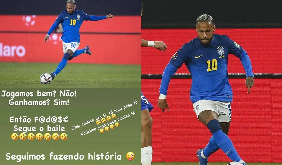 O atacante utilizou as redes sociais para debochar dos internautas que o criticaram após o jogo contra o Chile