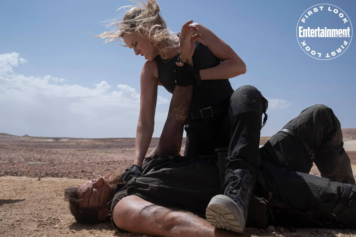 Kano e Sonya Blade. Crédito: Mark Rogers/New Line/Warner Bros.