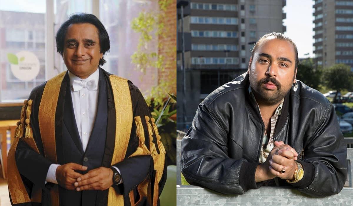 Sanjeev Bhaskar (à esquerda) e Asim Chaudhry (à direita) interpretarão Cain e Abel, respectivamente