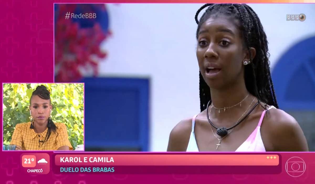 Karol chamou a discussão com Camilla de 'baixaria'