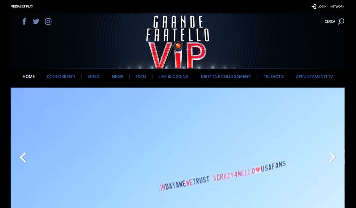 Grande Fratello VIP - Site