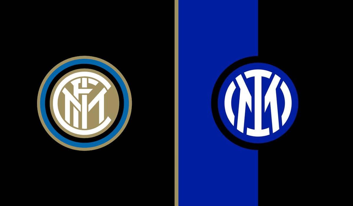Comparação entre o novo escudo da Inter de Milão e o anterior