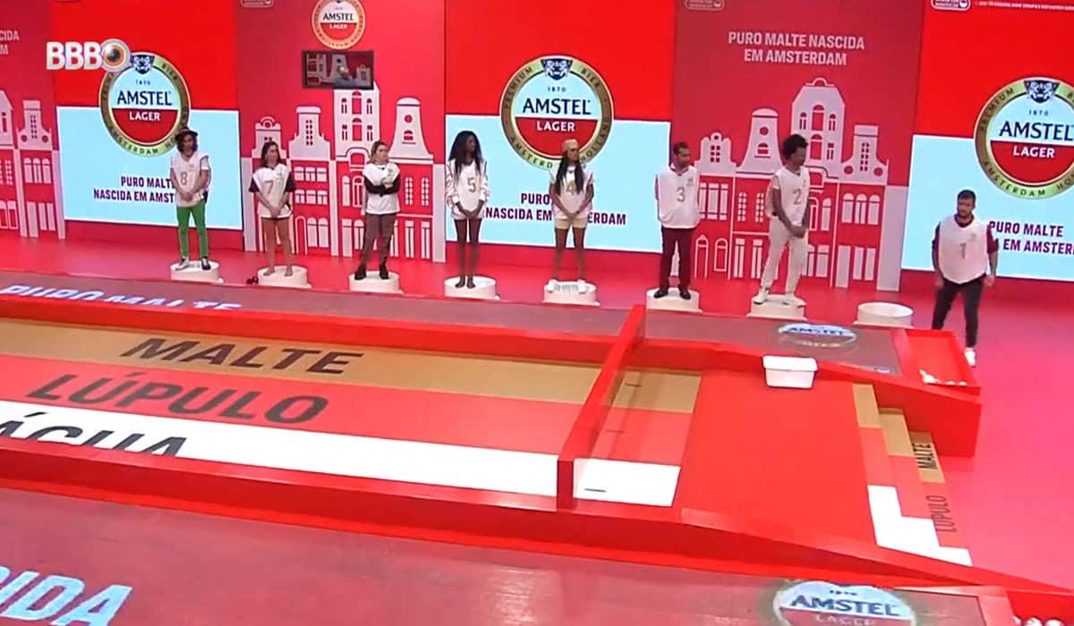 A prova do líder desta terça-feira (20) foi assinada pela Amstel