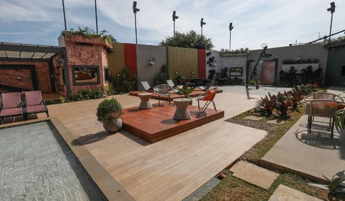 Área externa da mansão do Power Couple Brasil 5. Foto: Record