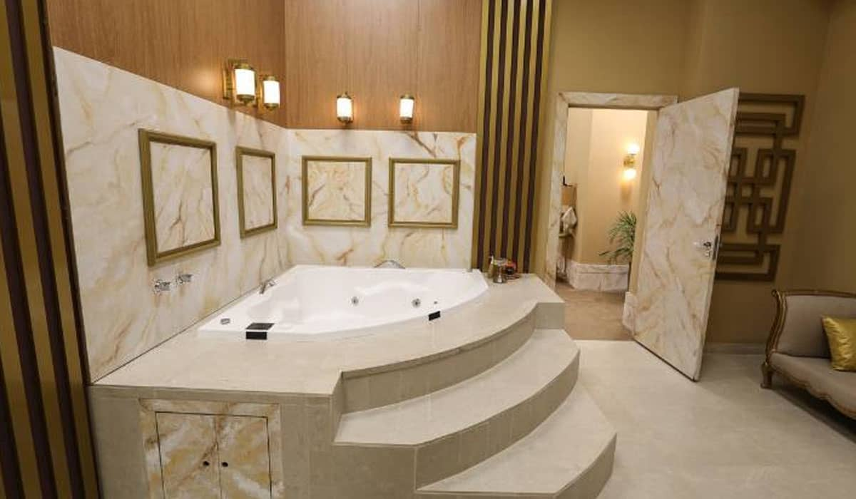 Banheiro do Power Couple Brasil 5. Foto: Record
