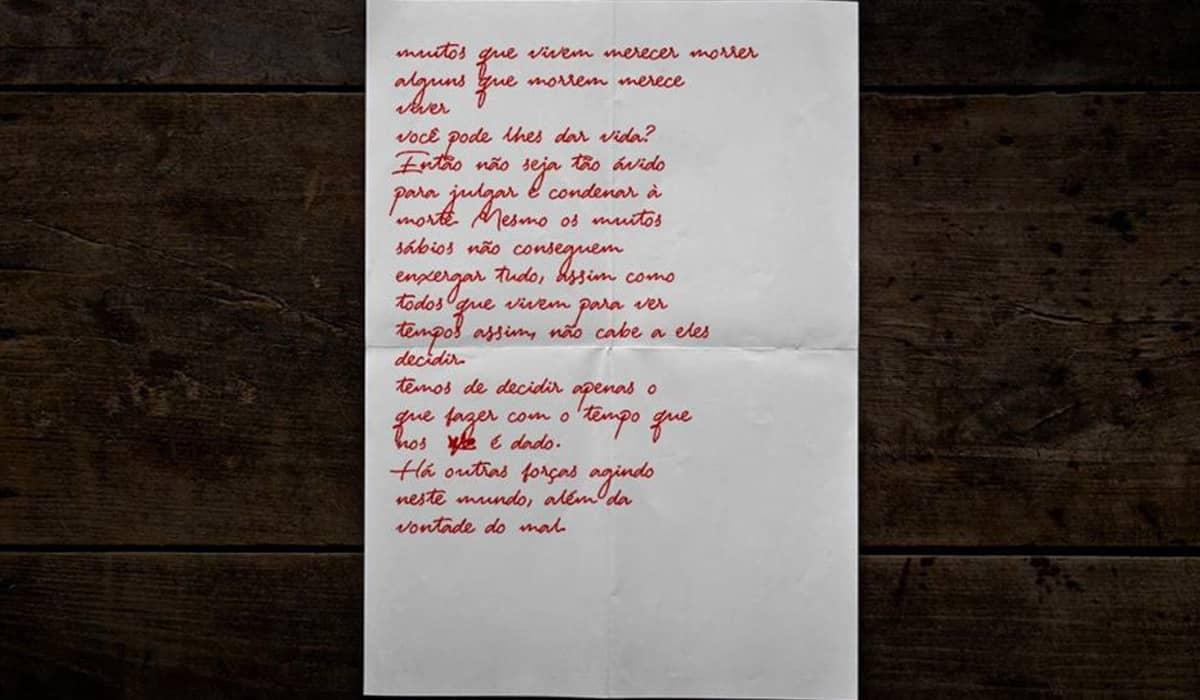 Reprodução digital da suposta carta de Lázaro. Foto: Metrópoles