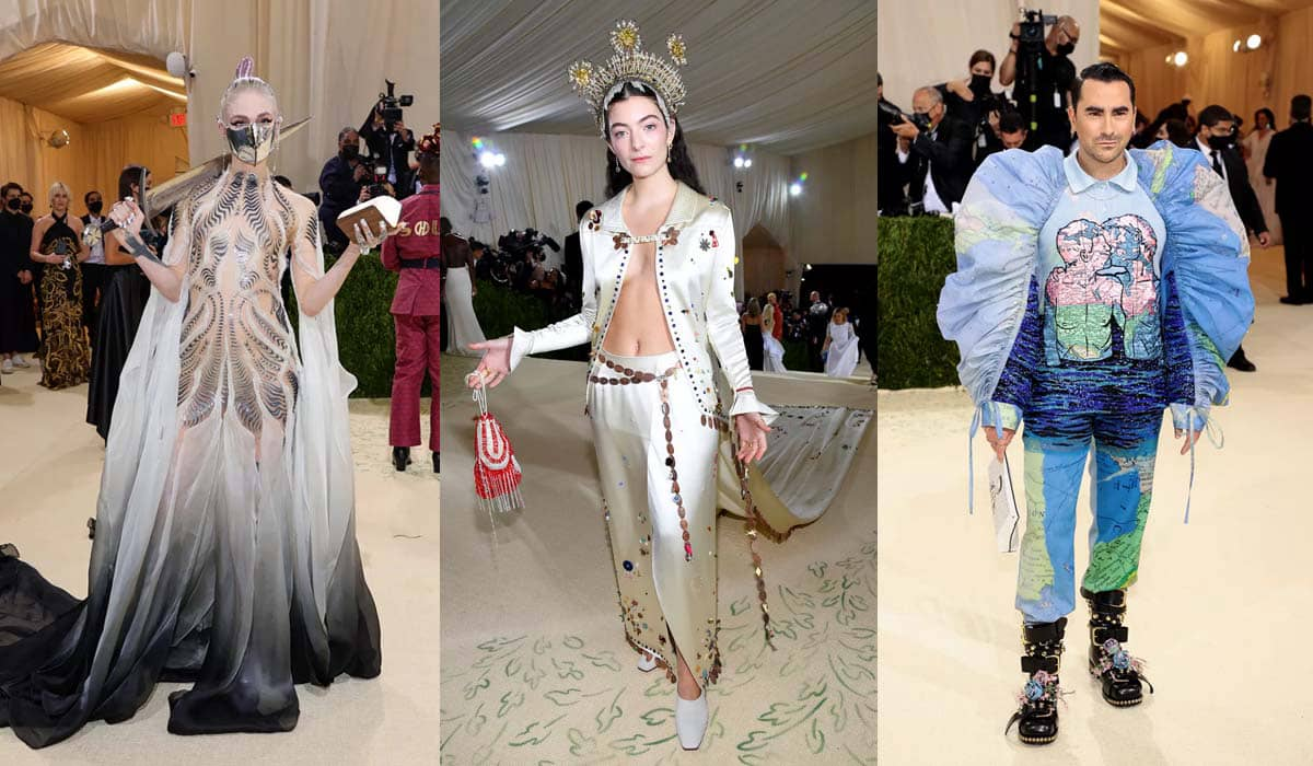 Grimes, Lorde e Dan Levy roubam a cena no 'tapete vermelho' do evento beneficente